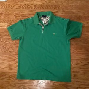 Men's Green Burberry Polo Size - M